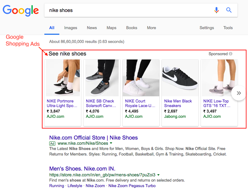 df01ceeb1f644 Example  Nike Shoe. Shopping campaigns are crux to e-commerce marketing. As  per this article