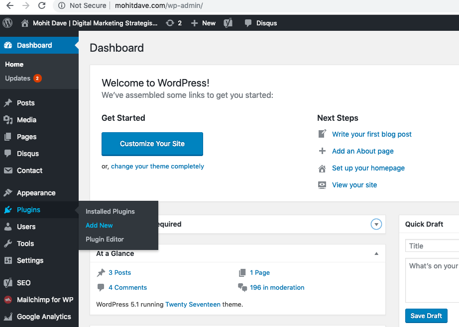 how to add new plugin in wordpress
