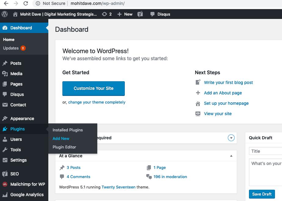 how to add new plugin in wordpress