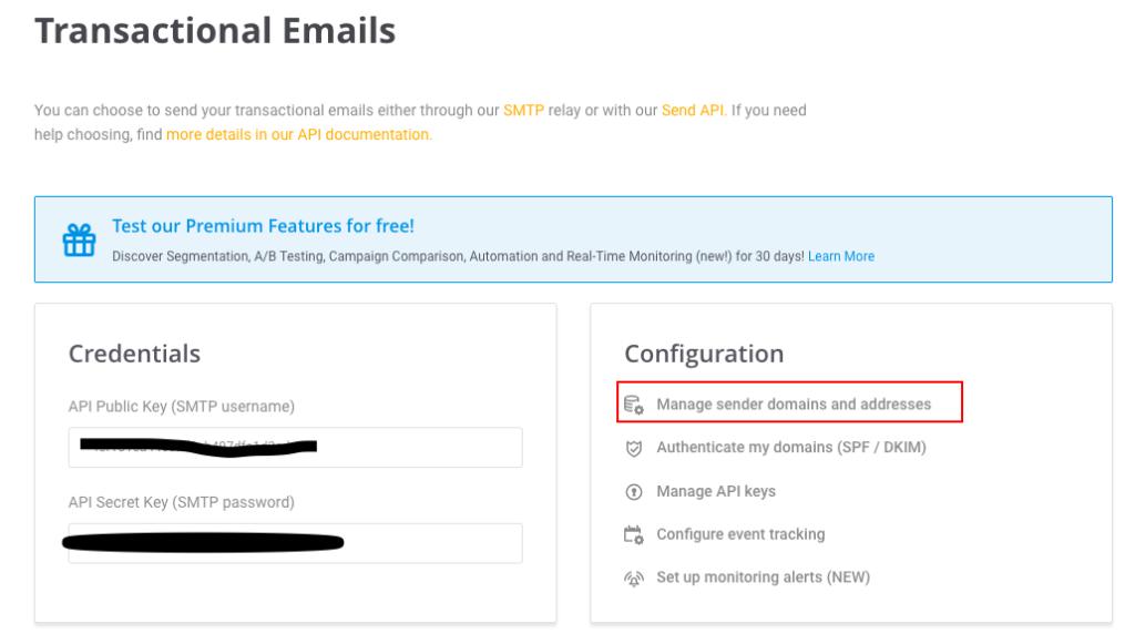 add domain in mailjet